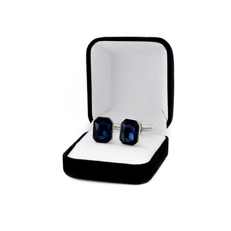 Butoni barbati personalizati Crystal Blue