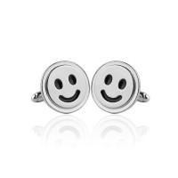 Butoni barbati personalizati Smiley Face