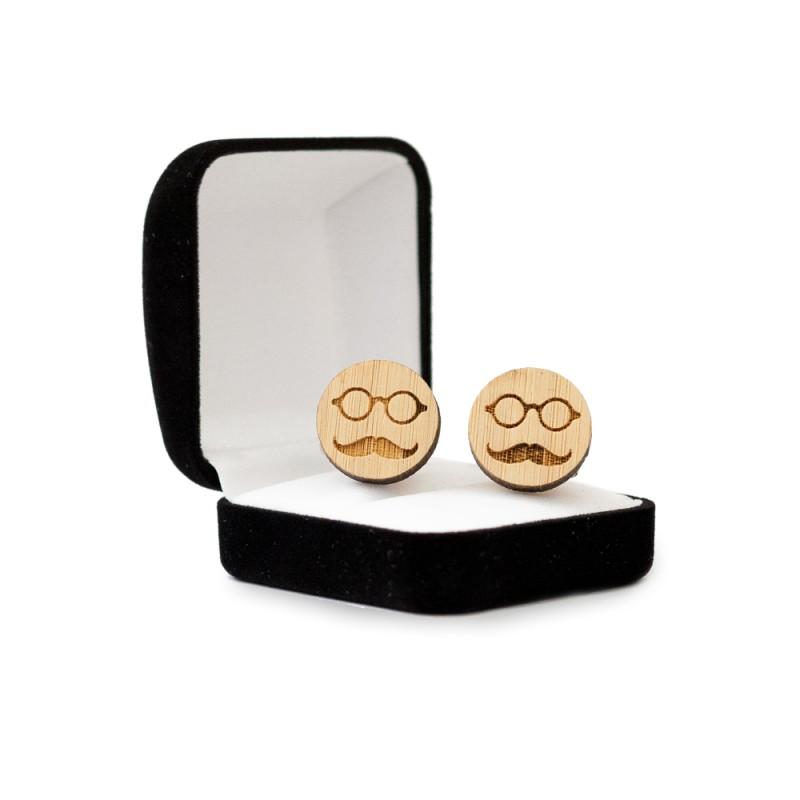 Butoni lemn personalizati smile face