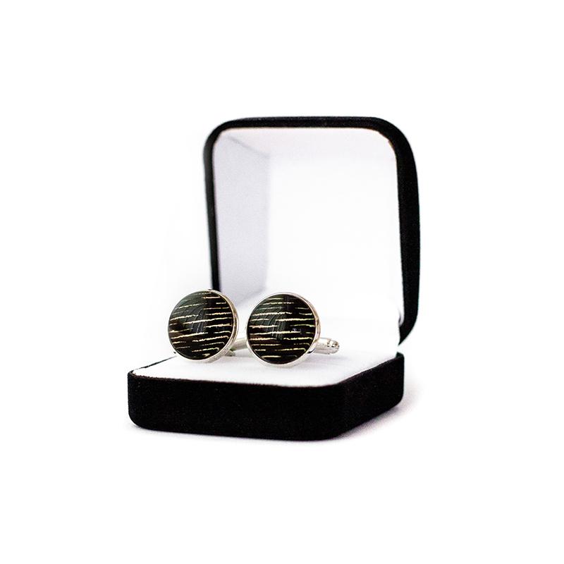 Butoni personalizati camasa negru gold