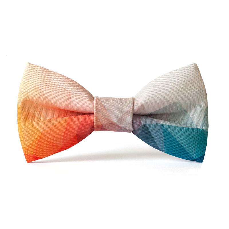 Papion personalizat culori abstracte