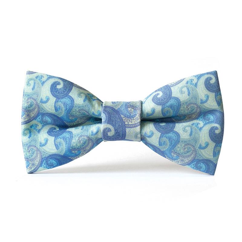 Papion personalizat valuri albastre
